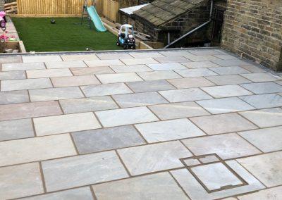 Block paving deck