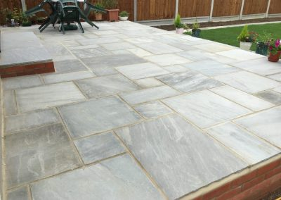 Patio in Halifax indian stone